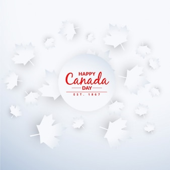 Belle canada day background