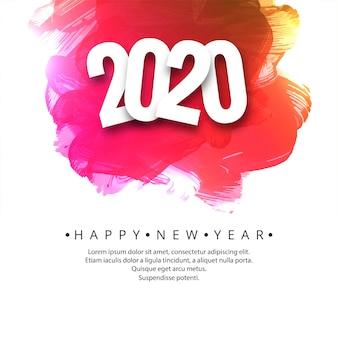 Belle carte de célébration du nouvel an 2020