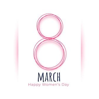 Belle carte de célébration de la journée internationale des femmes de mars