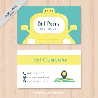 Belle carte de chauffeur de taxi