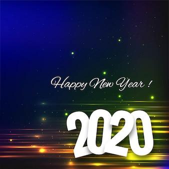 Belle carte de fête du texte du nouvel an 2020