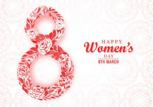 Belle carte de fête des femmes