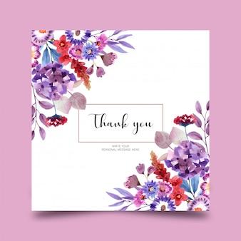 Belle carte florale aquarelle