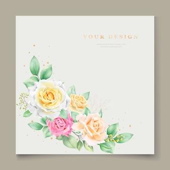 Belle carte d'invitation de mariage aquarelle