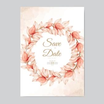 Belle carte d'invitation de mariage automne automne