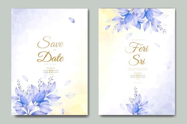 Belle carte d'invitation de mariage de feuilles d'automne d'automne