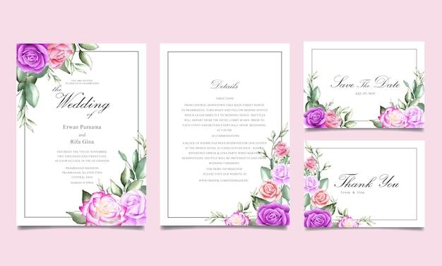 Belle carte d'invitation de mariage