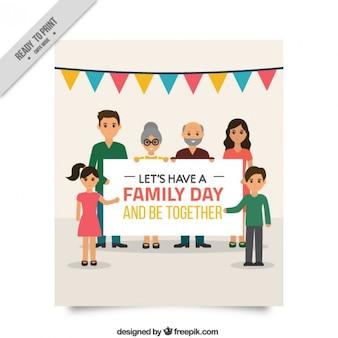 Belle carte de journée en famille