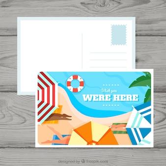 Belle carte postale d'été