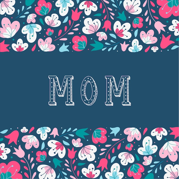 Belle carte pour la fête des mères