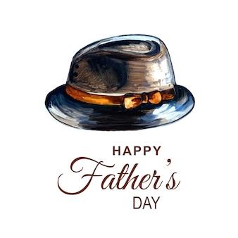 Belle carte pour la fête des pères heureuse