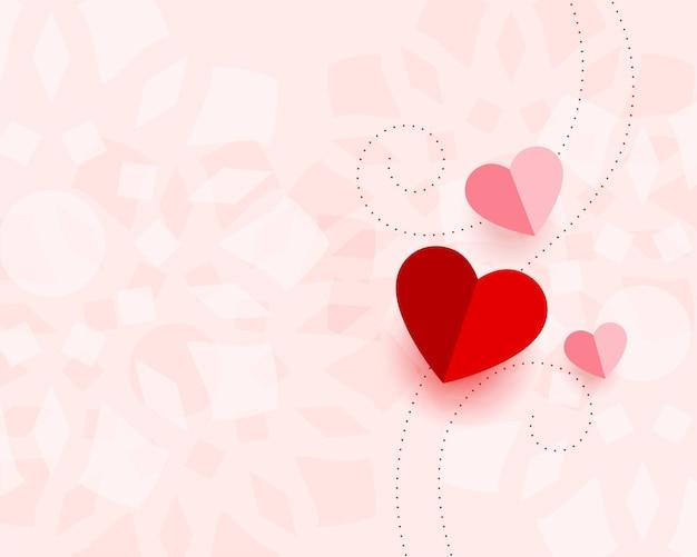 Belle carte de saint valentin avec espace de texte