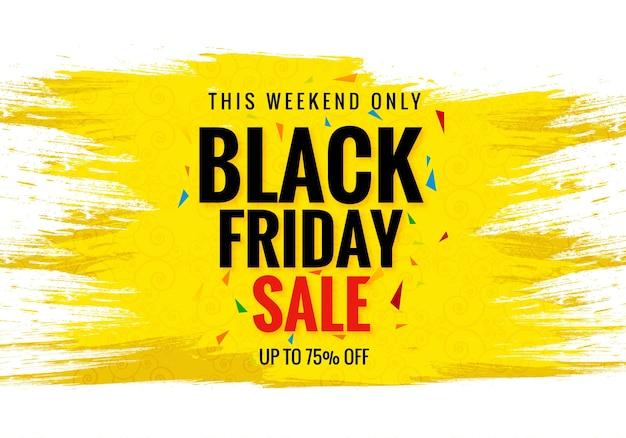 Belle carte de vente vendredi noir pour pinceau aquarelle