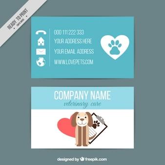 Belle carte vétérinaire