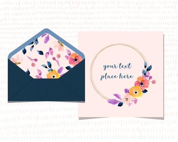 Belle carte vierge avec enveloppe