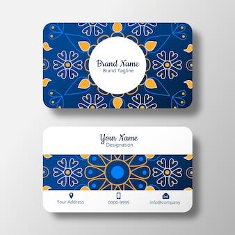 Belle carte de visite bleue