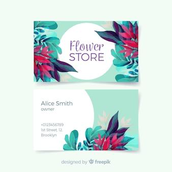 Belle carte de visite florale aquarelle