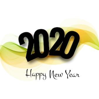 Belle carte de voeux de fête du texte 2020 nouvelle année texte