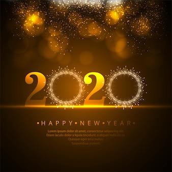 Belle célébration 2020 nouvel an vecteur de paillettes