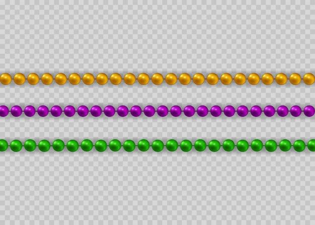 Belle chaîne de couleurs différentes.