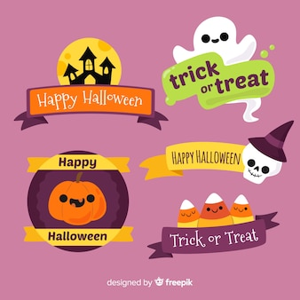 Belle collection de badges d'halloween