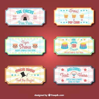 Belle collection de billets de cirque