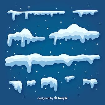 Belle collection de bordure d'hiver