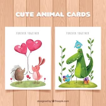 Belle collection de cartes d'animaux