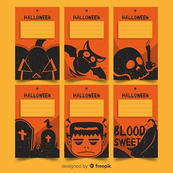 Belle collection de cartes d'halloween