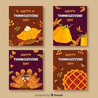 Belle collection de cartes de remerciement