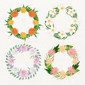Belle collection de couronnes florales