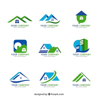 Belle collection de logos immobiliers