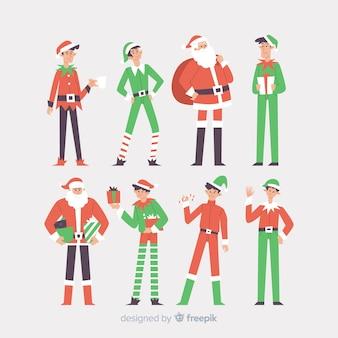 Belle collection de personnages de Noël