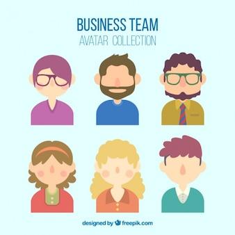 Belle collection de l'équipe d'affaires
