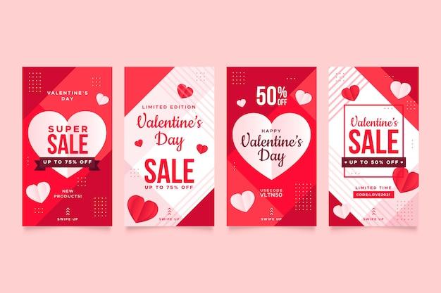 Belle collection d'histoires de vente de la saint-valentin