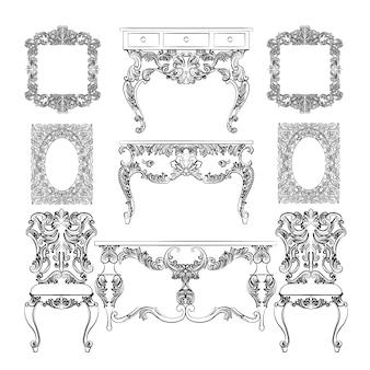 Belle collection de meubles anciens
