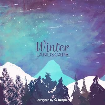 Belle collection de paysages d'hiver
