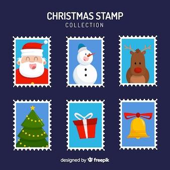 Belle collection de timbres de noël