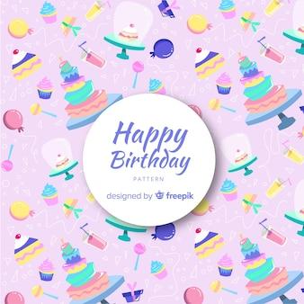 Belle composition d'anniversaire avec style coloré