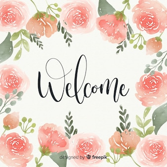 Belle composition de bienvenue aquarelle