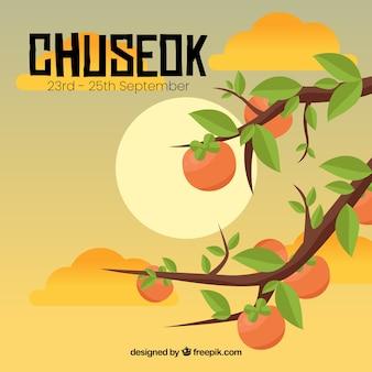 Belle composition chuseok avec un design plat