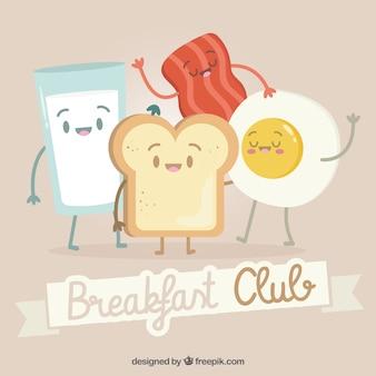 Belle composition de petit déjeuner