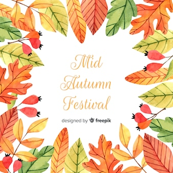 Belle composition de festival aquarelle mi automne