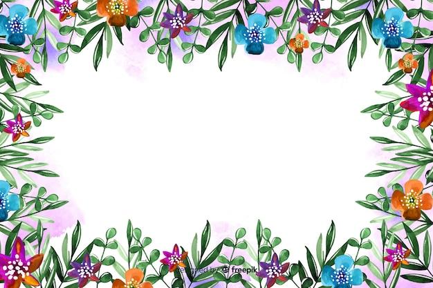 Belle composition de fond floral coloré