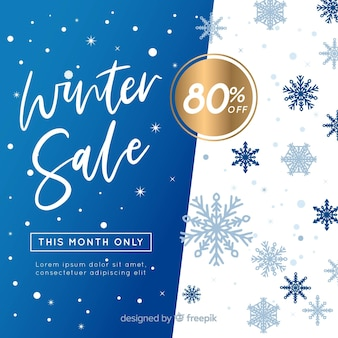 Belle composition de soldes d'hiver