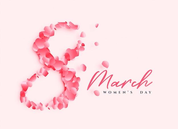 Belle conception d'affiche de la journée des femmes
