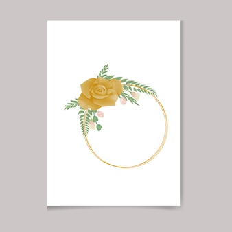 Belle conception de cadre floral premium aquarelle féminine peinte à la main numérique