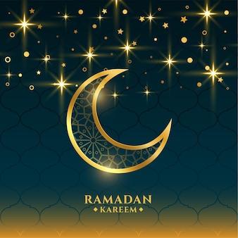 Belle conception de carte de voeux ramadan kareem saison sainte