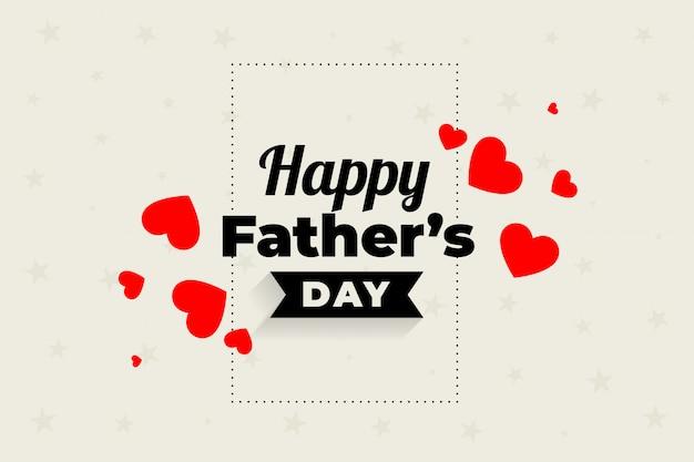 Belle conception de coeurs de fête des pères heureux