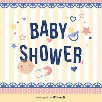 Belle conception de douche de bébé